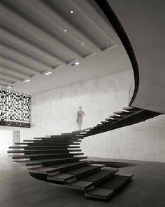 Oscar Niemeyer - great staircase
