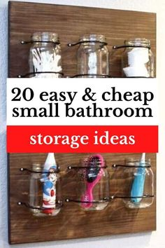 20 budget friendly bathroom organization ideas. Declutter and organize bathroom sink countertop and add more wall storage solutions with these simple diy storage solutions. Bathroom Storage Units, Pegboard Storage, Bathroom Organisation, Wall Storage, Diy Storage, Organization Ideas, Storage Ideas, Counter Top Sink Bathroom, Sink Countertop
