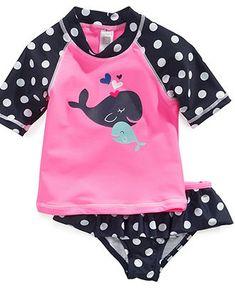 Carter's Kids Swimwear, Little Girls or Toddler Girls Rash Guard Set - Kids Toddler Girls (2T-5T) - Macy's