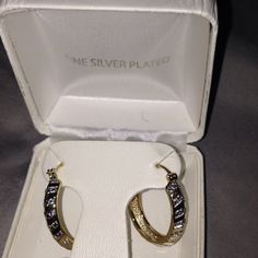 Beautiful earrings New listing as of 12-17-15!!! Not part of BOGO FREE sale but OFFERS welcome. Chevron hoop gold and silver plated. The size of a quarter. Brand new in box never worn. Jewelry Earrings