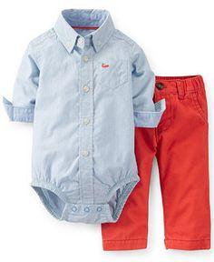 Carter's Baby Boys' 2-Piece Bodysuit & Colored Pants Set - Kids Baby Boy (0-24 months) - Macy's