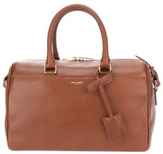 Saint Laurent Havana Leather Convertible Top Handle Duffel Brown Satchel on Sale, 42% Off | Satchels on Sale at Tradesy