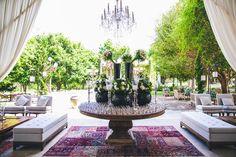 Mesa com copos - Casamento rústico-chique Foto Luiza Ferraz