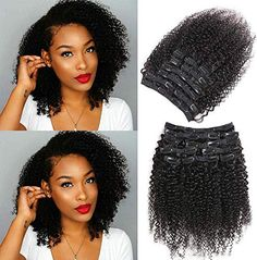 New Urbeauty Afro Kinky Curly Clip in Human Hair Extensions for Black Women 10 S. - New Urbeauty Afro Kinky Curly Clip in Human Hair Extensions for Black Women 10 Short Curly African - Kinky Curly Clip Ins, Kinky Curly Hair, Short Curly Hair, Curly Hair Styles, Natural Hair Styles, 4c Hair, Afro Hair Clip Ins, Coily Hair, Black Hair Extensions