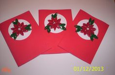 Christmas Cards ~ Part 1 ~ Poinsettia