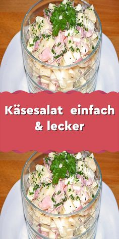 Cheese salad simple & delicious-Käsesalat einfach & lecker Ingredients 250 g cheese (also packed according to taste) 1 small onion (s) in cubes 3 pickled cucumber (s) in cubes 1 apples in … - Salad Recipes Healthy Lunch, Salad Recipes For Dinner, Chicken Salad Recipes, Fish Recipes, Smoothie Recipes, Snack Recipes, Snacks, Creamy Cucumber Salad, Cheese Salad