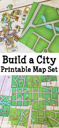 a City Map - Printable Geography Set build a city map- printable geography set for kids! A fun way to learn about mapping and your neighborhood.build a city map- printable geography set for kids! A fun way to learn about mapping and your neighborhood. Geography Activities, Toddler Activities, Preschool Activities, Geography Map, Geography Classroom, Geography For Kids, Community Activities, Teaching Geography, Kids Printable Activities