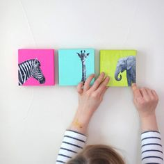 Try this super simple DIY to add some pop of color in your little one's room.