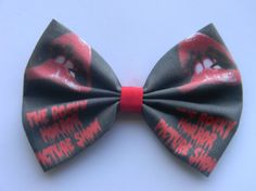 The Rocky Horror Picture Show Inspired Classic Hair Bow or Clip on Bow Tie $7.25