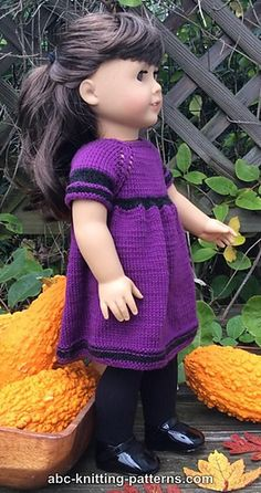 Knitmeasweater : FREE KNITTED PATTERN  American Girl Doll Night in ...