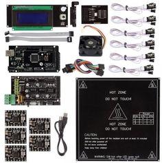 Sale Preis: SainSmart 3D Printer KIT Ramps 1.4 + A4988 + Mega2560 R3 + LCD 2004 Controller + Mechanical Endstop + Heatbed MK2B + SD Breakout Board + Cooler Fan für RepRap 3D Drucker Arduino Mega2560 UNO R3. Gutscheine & Coole Geschenke für Frauen, Männer & Freunde. Kaufen auf http://coolegeschenkideen.de/sainsmart-3d-printer-kit-ramps-1-4-a4988-mega2560-r3-lcd-2004-controller-mechanical-endstop-heatbed-mk2b-sd-breakout-board-cooler-fan-fuer-reprap-3d-drucker-arduino-mega25