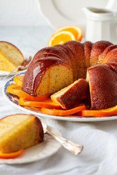 Orange Poppy Seed Bundt Cake #MyVintageRecipe Layer Cake Recipes, Sheet Cake Recipes, Homemade Cake Recipes, Dessert Recipes, Buttermilk Coffee Cake, Raspberry Coffee Cakes, Coffee Cake Image, Poppy Seed Bundt Cake, Orange Poppy Seed Cake