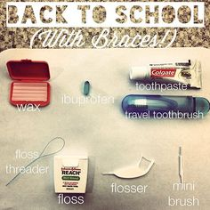 If your kids are heading back to school with braces, don't forget to pack the essentials with you! #Granddental #Granddentalgroup