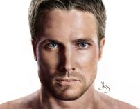 Stephen Amell - Arrow by Kerovin Black, via Behance