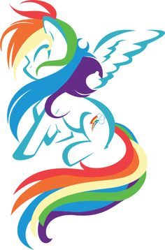 My Little Pony: Friendship is Magic Rainbow outline