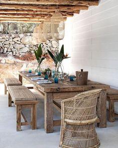 Home Tour: Sophisticated Island Living on Ibiza - Diy Garden Furniture, Dining Furniture, Furniture Decor, Modern Furniture, Futuristic Furniture, Plywood Furniture, Furniture Movers, Furniture Outlet, Best Outdoor Furniture