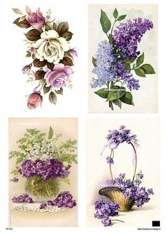 vintage knipvel 151 paarse bloemen Welkom bij Hobbyvoordelig online