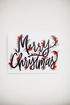 Merry Christmas Lettering - Christmas Cards - Hand Lettering - Greeting Card - Single Card by ShannonKirsten on Etsy Diy Christmas Cards, Xmas Cards, Christmas Art, Diy Cards, Holiday Crafts, Christmas Decorations, Merry Christmas Writing, Christmas Letters, Christmas Onesie