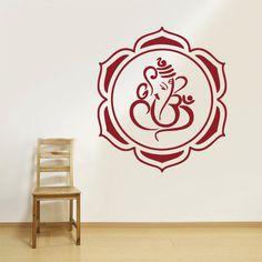 Wall Decal Vinyl Sticker Decals Hindu Om Symbol Ganesh Chakra Buddha Indian Word (z2697)
