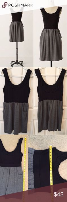Anthropologie here today here tomorrow dress Adorable colorblock black and gray herringbone dress by little yellow button for Anthropologie. In excellent pre-loved condition. 🙆🏻no trades or off site transactions. Since I have a variety of sizes I do not model🙅🏻Low ball offers will be denied.😁I have an illness that sometimes requires serious medical attention & 2 little ones 👶🏼👶🏻 so if I don't respond I'm either very ill that day 🚑 or have been kidnapped by my kids.Thank you for…