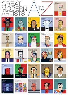 great modern artists alphabet