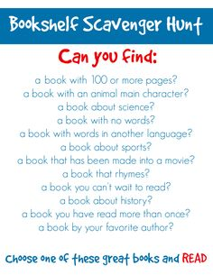 2 Scholastic Printables Challenge Kids to a Bookshelf Scavenger Hunt √ Scholastic Printables . Challenge Kids to A Bookshelf Scavenger Hunt in School Library Lessons, Library Lesson Plans, Elementary School Library, Library Skills, Elementary Schools, Library Games, Library Week, Library Activities, Library Books