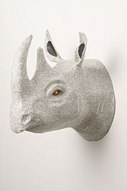 Bedroom or office: Recycled Paper Mache animal head