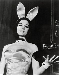 Gloria Steinham as an undercover bunny to interview Hugh Hefner