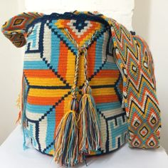 Details about Hand Made Shoulder Bags Colombian South American Indians Wayuu Tribe Mochila Bag