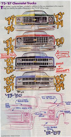 73-87 grill drawing? - The 1947 - Present Chevrolet & GMC Truck Message Board Network
