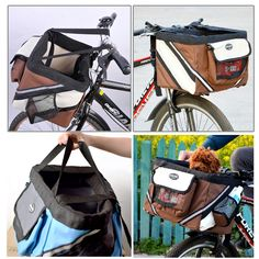 Pet bicycle baskets are a fun way to enjoy a leisurely ride with your small pet. 1 x Pet Bike Basket Bag. Suitable for: Small Dog and Cat. Pet Puppy, Dog Cat, Pet Bike Basket, Biking With Dog, Pet Bag, Bicycle Print, Used Bikes, Cat Carrier, Pet Collars