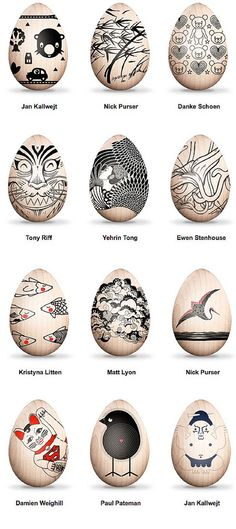 Artist (and Robot) decorated Eastern Easter Eggs for Charity