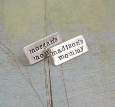Hand Stamped Jewelry  PINNED  Personalized by tinytokensdesigns, $28.00
