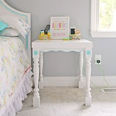 DIY Ikea Lack Side Table Revamp from MySoCalledCraftyLife.com