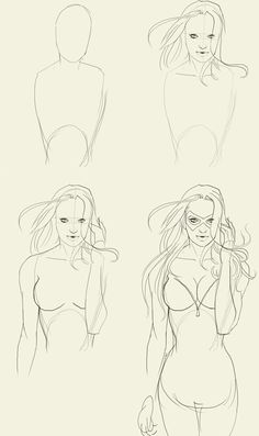 Drawing tutorial woman female blackcat marvel comics how to draw body
