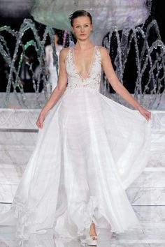 V-Neck Wedding Dress www.mccormick-weddings.com Virginia Beach
