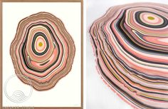 WOODRING # 9: Woodrings Series reflect the meaning of a concentric layer of wood, developed during an annual or other regular period of growth. Handcrafted unique art. Browse the different art prints on www.snedkerstudio... - and choose your favorite