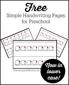 Check out this set of simple and FREE handwriting pages for preschool! A complete set from A-Z.