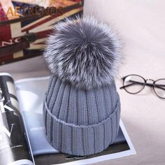 High Quality Fox Fur Beanies Pompom Women Winter Hats $15.98   => Save up to 60% and Free Shipping => Order Now! #fashion #woman #shop #diy  http://www.scarfonline.net/product/aetrends-2016-high-quality-fox-fur-beanies-pompom-women-winter-hats-knitted-cap-beanie-hat-z-3504/