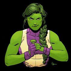 "failed-mad-scientist: ""She-Hulk - Evan ""Doc"" Shaner "" Marvel Marvel Girls, Marvel Heroes, Marvel Avengers, Marvel Comic Character, Marvel Characters, Marvel Universe, Female Hulk, Comic Sketch, Top Superheroes"