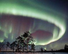 Aurora boreale in Scandinavia