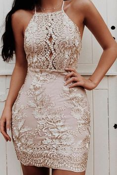 Handmade Embellished Mesh Rose Gold Backless Bodycon Dress - rose gold prom dress high neck mini dresses sheer lace dress boho embroidery lace dress beautiful padded bodycon dress outfit Source by paulizilla - Homecoming Dresses Tight, Gold Prom Dresses, Tight Dresses, Sexy Dresses, Dress Outfits, Rose Gold Homecoming Dress, Bridesmaid Dresses, Mini Dresses, Elegant Dresses