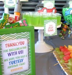 Teenage Mutant Ninja Turtles themed birthday party with so many great ideas via Kara's Party Ideas KarasPartyIdeas.com #TMNT #tmntparty #tee...