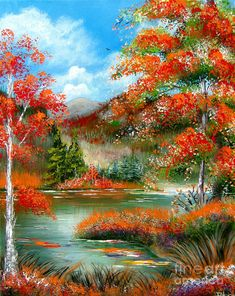Fall Painting - Happy Ever After Autumn by Patrice Torrillo