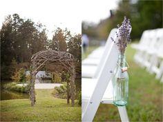 Ceremony Decor Idea, Dried lavendar   Hodgin Valley, Heirloom Vintage Farm Wedding   Anna Paschal Photography   Leigh Pearce Weddings, Greensboro North Carolina Wedding Planner, Stylist, Coordinator
