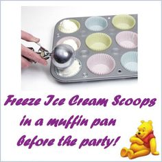 Birthday party tip for ice cream