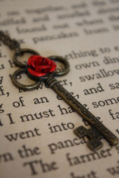 Red Rose Key ~ Beauty and the Beast   Etsy