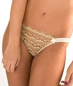 Pin It! :) Click Image Twice For More Info and Pricing :) #women #panties #lingerie #lace #lace #sexylingerie #intimates #silk #satin #thong #undergarment #honeymoon #satin #hipster #sheerpanties see more sheer panties at   http://zpanties.com/category/panties-categories/sheer-panties/ - Mimi Holliday Bisou Brulee Thong, M, Champagne « Z Panties
