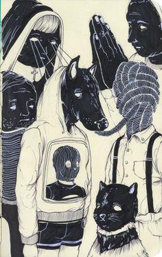 Illustration Black and white