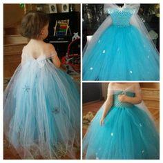 Girls frozen bday dress